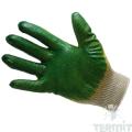 Трикотажные перчатки с двойным латексным покрытием