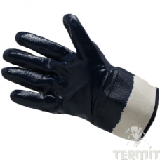 Перчатки нитриловые, манжета крага, полный облив