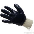 Перчатки нитриловые, трикотажная манжета, неполный облив