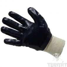 Перчатки нитриловые, трикотажная манжета, полный облив